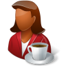 Rest-Person-Coffee-Break-Female-Dark icon