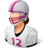 Sport-Football-Player-Female-Light icon