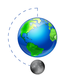 Moon Phase Full Earth icon