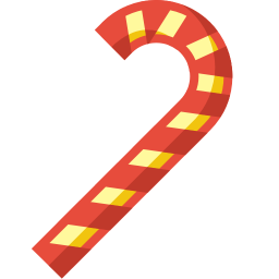 Candy cane icon