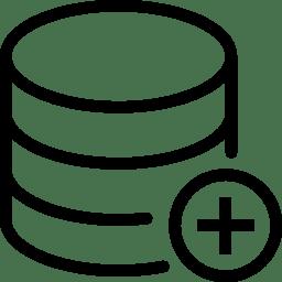 Data Add Database icon