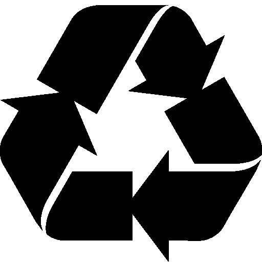 City Recycle Sign Filled icon