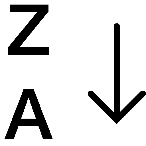 Data-Alphabetical-Sorting-Za icon