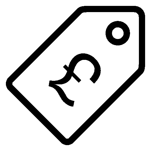 Ecommerce-Price-Tag-Pound icon