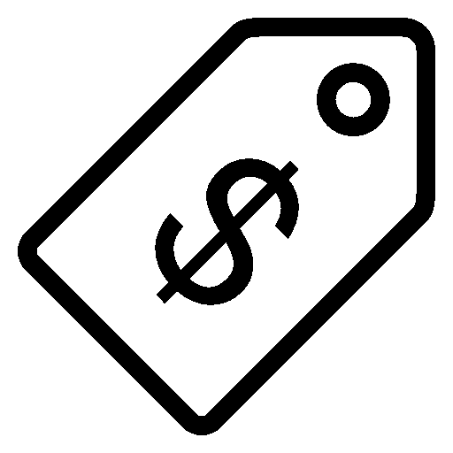 Ecommerce Price Tag Usd icon