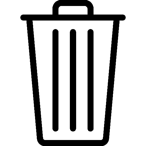 Messaging Trash icon