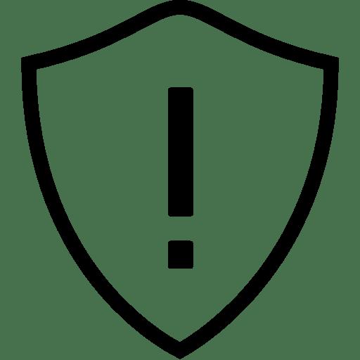 Network Warning Shield icon