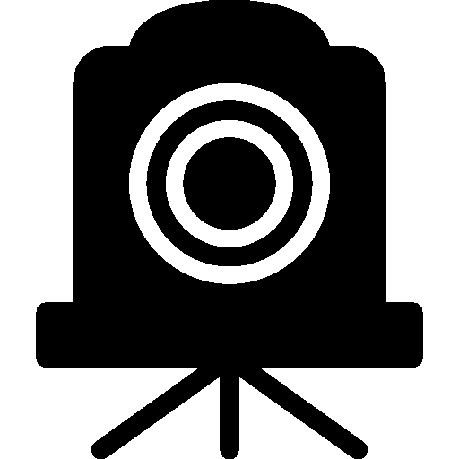 Photo Video Old Time Camera Filled icon