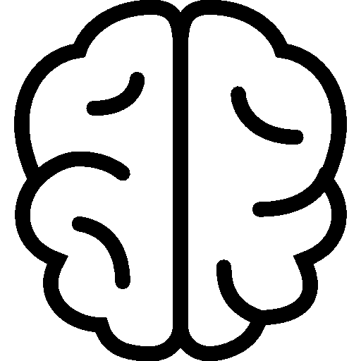 very basic brain icon