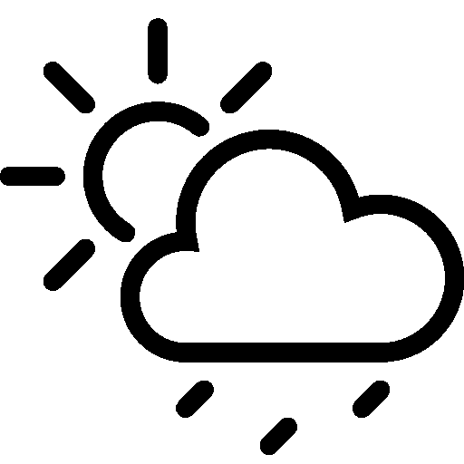 Weather Partly Cloudy Rain icon
