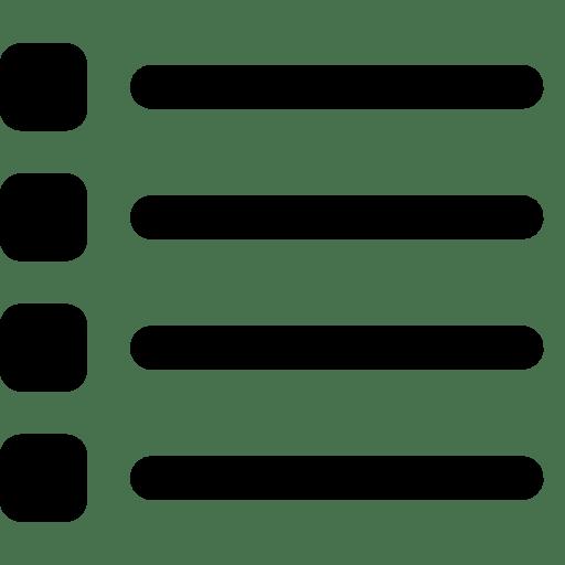 Data List icon