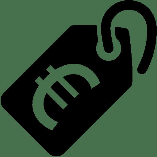 Ecommerce-Price-Tag-Euro icon