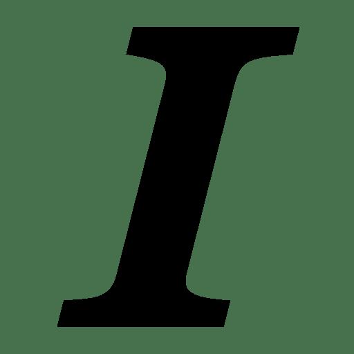 Editing Italic icon