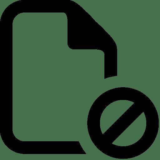 Files-Cancel-File icon