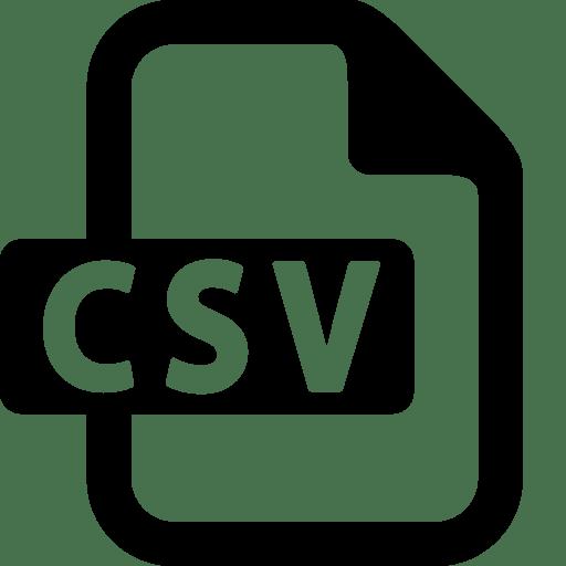 Files Csv icon