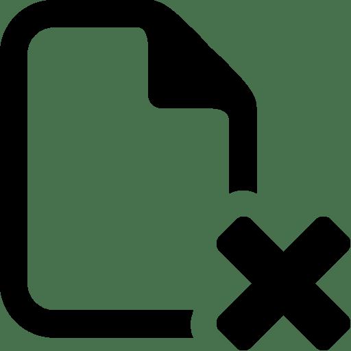 Files-Delete-File icon