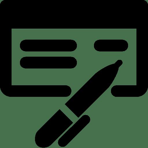 Finance Check Book icon