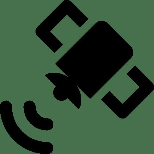 Maps-Satellite-Sending-Signal icon