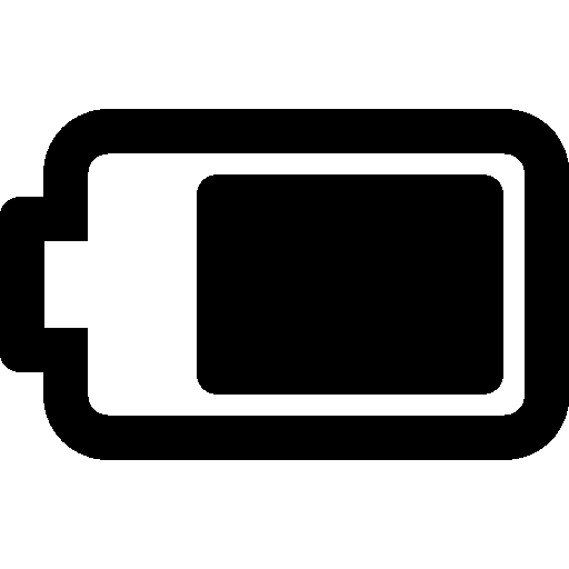Mobile Battery 75 Percent Icon | Windows 8 Iconset | Icons8