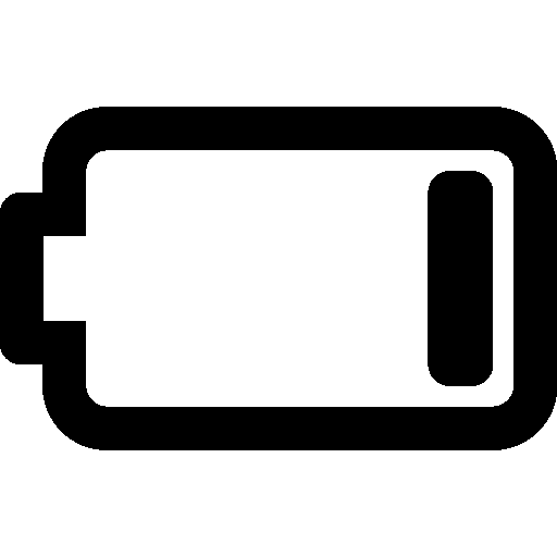 Mobile Battery Empty Icon | Windows 8 Iconset | Icons8