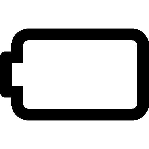Mobile Empty Battery Icon | Windows 8 Iconset | Icons8