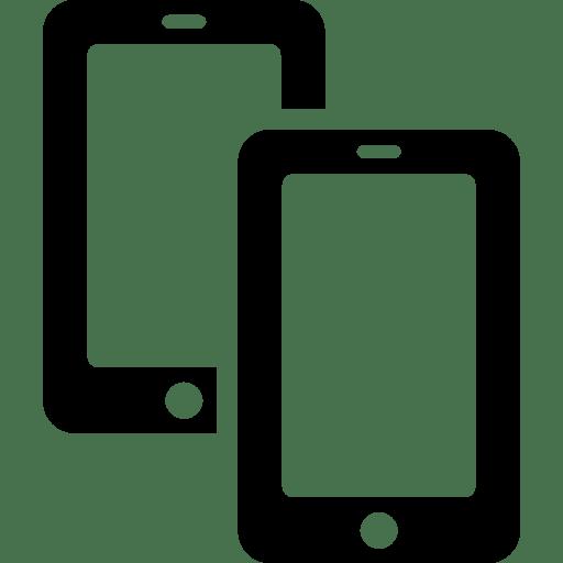 Mobile Two Smatphones icon
