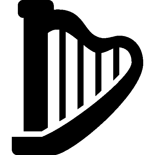 music harp icon windows 8 iconset icons8