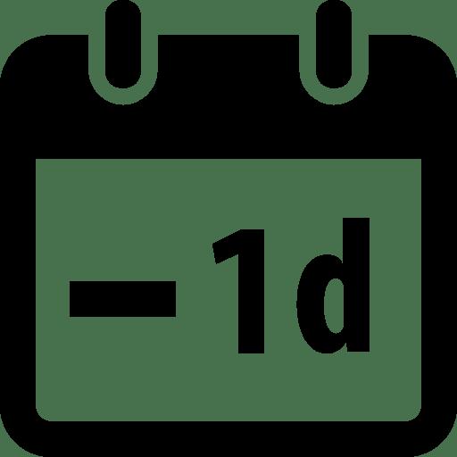 Time-Minus-1day icon