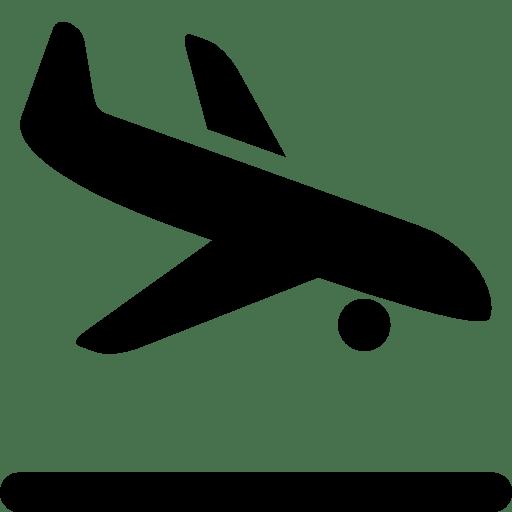 Transport Airplane Landing icon