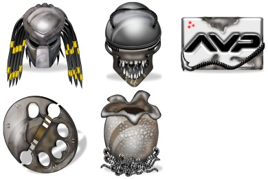 Alien vs. Predator Icons