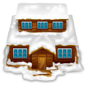 House-with-snow icon