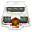 House with snow icon