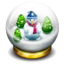 Glass-snow-ball icon