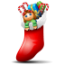 Socks-with-christmas-things-inside icon