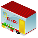 Circus trailer icon