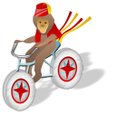 Monkey-bicycle icon