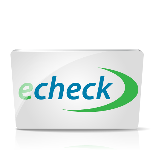 how to use echeck