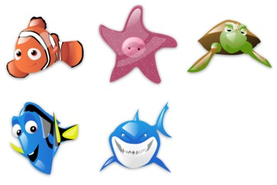 Finding Nemo Icons
