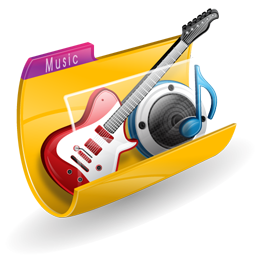music icon folder icons iconshock