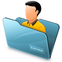 Folder-customer icon