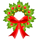 Christmas bow icon