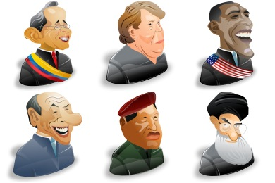 Political Characters Icons