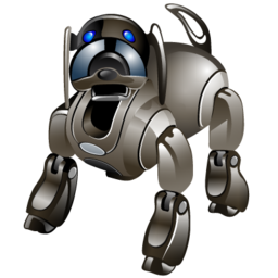 Robotic pet icon