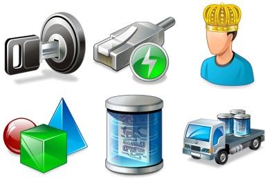 Real Vista Data Icons