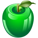 http://icons.iconarchive.com/icons/iconshock/real-vista-food/128/green-apple-icon.png