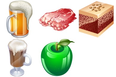 Real Vista Food Icons