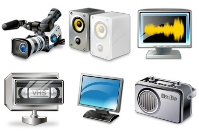 Real Vista Multimedia Icons