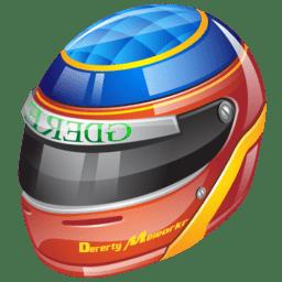 Formula 1 helmet icon