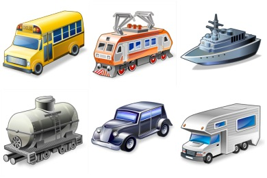 Real Vista Transportation Icons