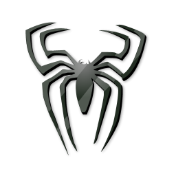 black spider icon spiderman iconset iconshock rh iconarchive com spiderman logo black and red spiderman black logo